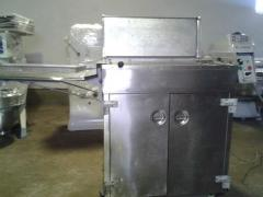 Equipment for production of donuts. Hot fan for