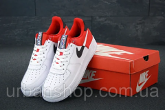 Кросівки чоловічі Nike Air Force біло-червоні