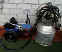 Доильный аппарат с вакуумным насосом