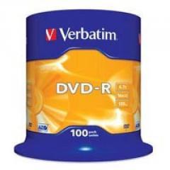 Диск DVD Verbatim 4.7Gb 16X CakeBox 100шт...
