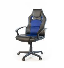 Кресло офисное Анхель, черно-синий, эргономичное компьютерное кресло, NEW PL TILT А-Клас