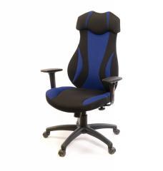 Кресло офисное Эпсилон,  черно-синий, ...