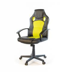 Кресло офисное Анхель, черно-салатовый, эргономичное компьютерное кресло, NEW PL TILT А-Клас