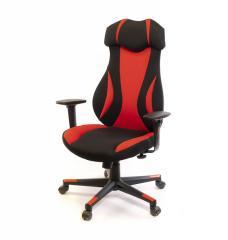 Кресло офисное Эпсилон,  черно-красный, ...
