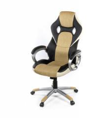 Кресло офисное Антарес,бежевый, эргономичное мягкое компьютерное кресло, PL TILT А-Клас