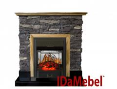 Каминокомплект IDaMebel Gemma Majestic Black