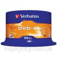 Диск DVD Verbatim 4.7Gb 16X CakeBox 50шт...