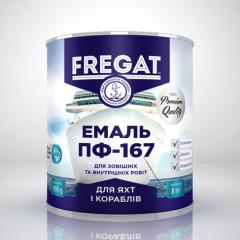 """Эмаль ПФ-167 """"FREGAT"""" серебряный"""