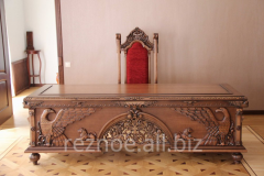 Wooden furniture under the order from the