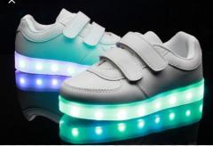Кроссовки светящиеся детские VENUS White 511