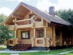 Дома срубы деревянные.