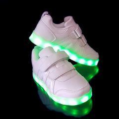 Кроссовки светящиеся детские VENUS White 1088