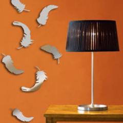 Декор для стен зеркала перья