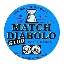 Пули пневм JSB Match Diablo для винтовки 4,5 мм