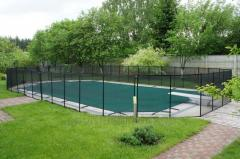 Child safety fence for a swimming pool Shield