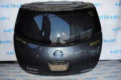 Дверь багажника голая Nissan Leaf 11-17 графит