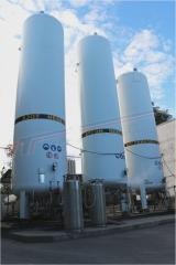 Емкость 30м3 криогенная / хранение и газификация