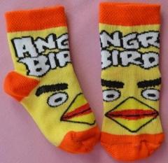 K3155 kiddies socks with the drawing ANGRY BIRDS