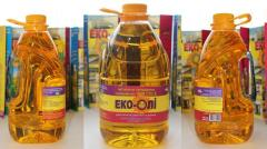 Sunflower oil 0,8 liters, 1 liter, 3 liters, 5