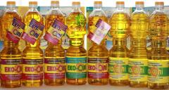 Sunflower oil of cold extraction of TM of