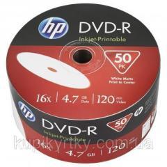 Диск DVD HP DVD+R 4.7GB 16X IJ PRINT 50шт...