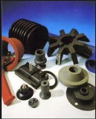 Shaped rubber technical products