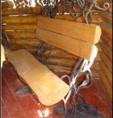 Кованые лавочки, Кованые декоративные изделия