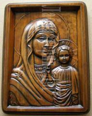 Иконы сувенирные деревянные, с элементами ручной резьбы по дереву, Украина