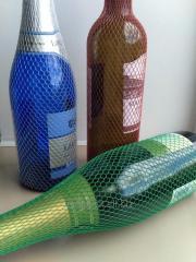 Отрезки сетки по 20 см для бутылок