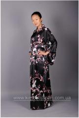 """Кимоно """"Юмэ"""" черное натуральный шелк"""