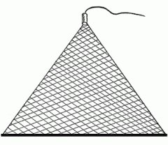 Fishing kerchief triangular of a scaffold 150*150*150, thickness 0.17