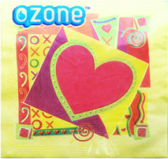 Heart of 20 pieces, Napkins color