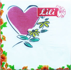 Heart of 20 pieces, Napkins two-layer, wholesale