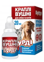 Ear drops for cats and dogs