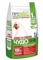 Premix for broilers of 5-8 weeks, a forage,
