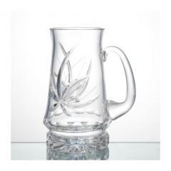 Кружка для пива хрустальная, 650 г, 900/43 цветок