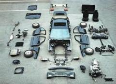 The auto parts which were in the use
