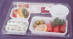 Disposable tableware for onboard food