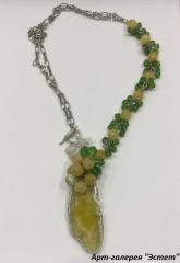 Ожерелье с яшмой, к.A510