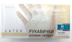 Перчатки MedTouch латексные б/пудры 100шт M