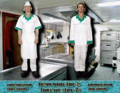 Костюм повара «Евро-2» (куртка с длинным рукавом +