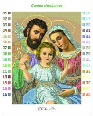 Outline for an embroidery the Holy family (small)