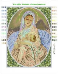 Outline and sets for embroidery Madonna with the