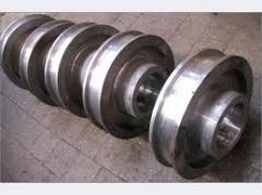 Crane wheels, pulleys with a diameter up to 1600