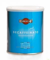 Кофе в зернах EUROCAF DECAFFEINATED