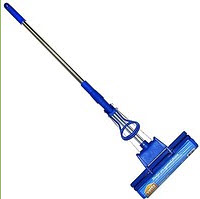 Mop for dry and damp cleaning, disinfection