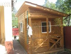 Домик дачный деревянный