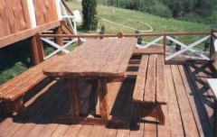 Комплект садовый деревянный