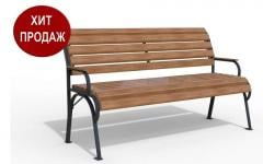 Bench with a back from a tree from the producer,