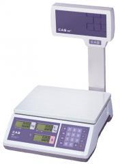 Trade scales of CAS ER JR